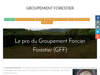 Acquisition d'un massif forestier : le groupement forestier